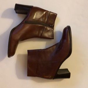 Enzo Angiolini Brochet Brown Ankle Boots